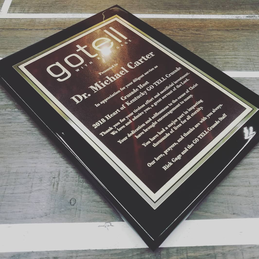GoTell Plaque